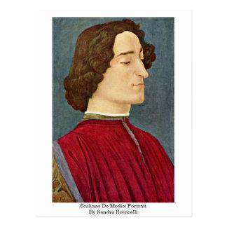 Giuliano De Medici Portrait By Sandro Botticelli Postcard