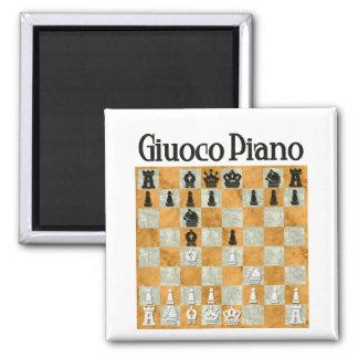 Giuoco Piano Square Magnet