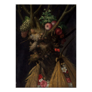 Giuseppe Arcimboldo Four Seasons in One Head Poster