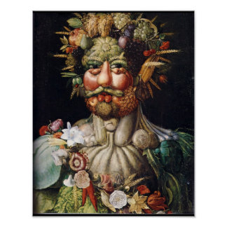 Giuseppe Arcimboldo Vertumnus Vegetable-Man Poster