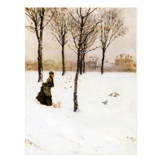 Giuseppe de Nittis- A Winter's Landscape Postcard