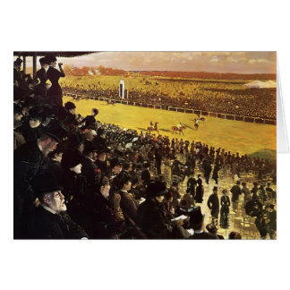 Giuseppe Nittis- The Races at Longchamps Card