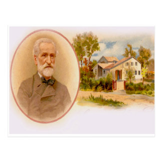 GIUSEPPE VERDI & HIS BIRTHPLACE AT THE RONCOLE POSTCARD