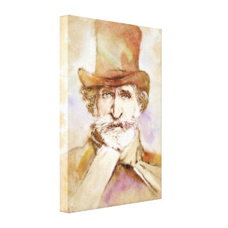 Giuseppe Verdi on Canvas - Watercolor Style