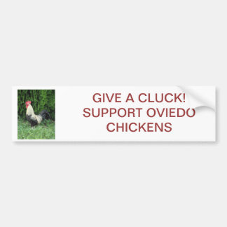Give A Cluck Bumper Sticker - Oviedo Chickens