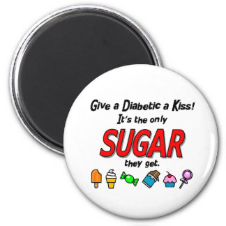 Give a Diabetic a Kiss 2 Inch Round Magnet
