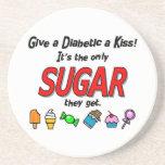 Give a Diabetic a Kiss Coasters