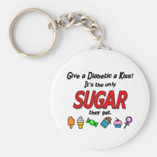 Give a Diabetic a Kiss Key Chain