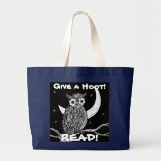 Give a Hoot!, READ! Canvas Bag