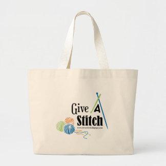 Give A Stitch Jumbo Tote Bag