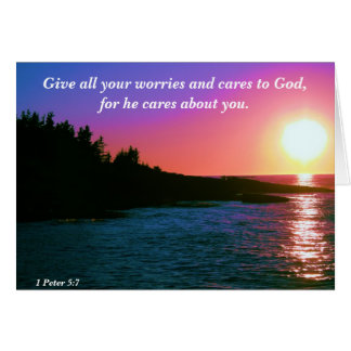 Give all your worries and cares to God Card