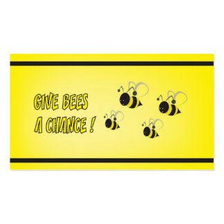 Give bees a chance pack of standard business cards