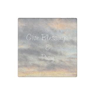 Give Blessings & Pray Sunset Magnet