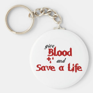 give Blood and Save a Life Basic Round Button Keychain