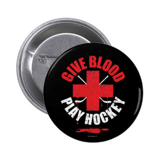 Give Blood Play Hockey v1 2 Inch Round Button