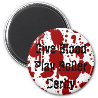 Give Blood Play Roller Derby Magnet