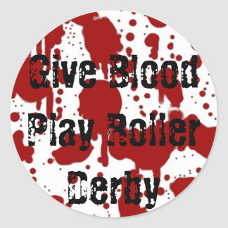 Give Blood Play Roller Derby Sticker