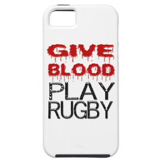 Give Blood Play Rugby iPhone 5 Case