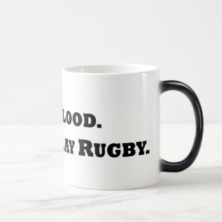 Give Blood. Play Rugby. Magic Mug