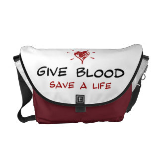 Give Blood Save A Life Messenger Bags