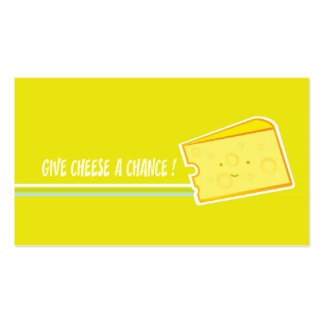 Give chees a chance pack of standard business cards