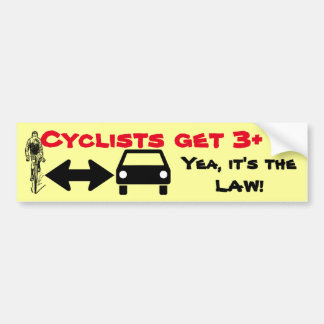 Give Cyclists Space-Share The Road Bumper Sticker