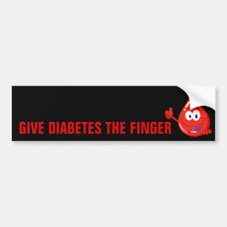 Give Diabetes the Finger Bumper Sticker