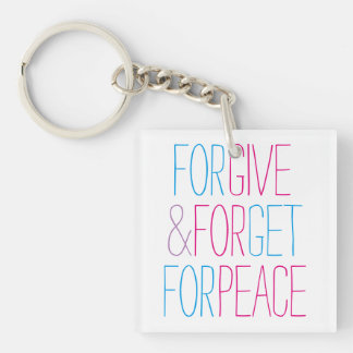 Give for Peace Double-Sided Square Acrylic Keychain