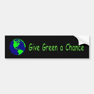 """Give Green a Chance"" Bumper Sticker"