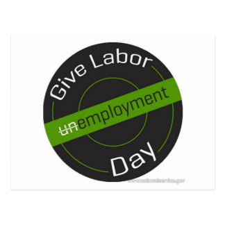 Give Labor Day Postcard