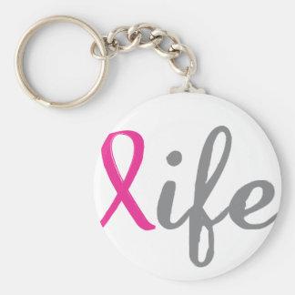 Give life - Pink ribbon Keychain