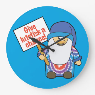 Give Lutefisk a Chance Wall Clock