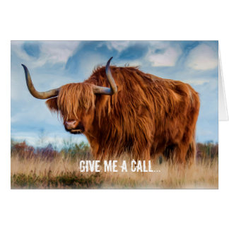 Give me a call...and we'll yak! greeting card