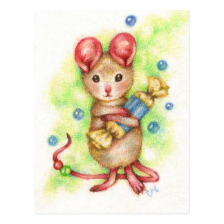 Give Me Candy - Cute Mouse Art Postcard