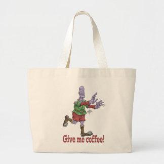 Give me coffee! Tote bag. Jumbo Tote Bag