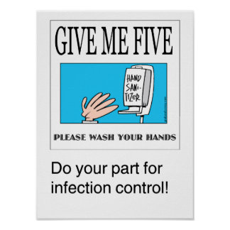 Give Me Five handwashing poster