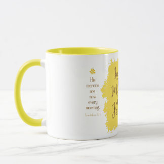 """Give Me Jesus"" 11 oz Combo Mug (Yellow)"
