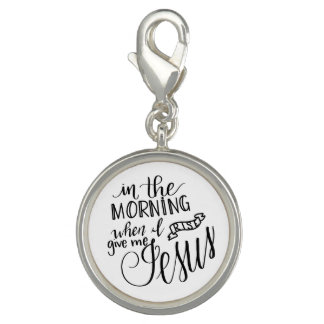 Give Me Jesus, Handlettered Clip-on Charm, Pendant Charm