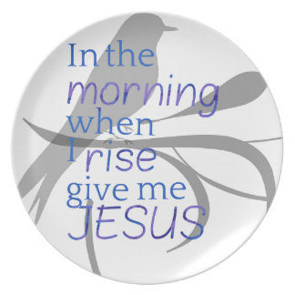 Give Me Jesus Praise and Worship Design Plate