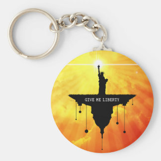 Give Me Liberty Basic Round Button Keychain