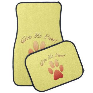 Give Me Paw (orange) Floor Mat