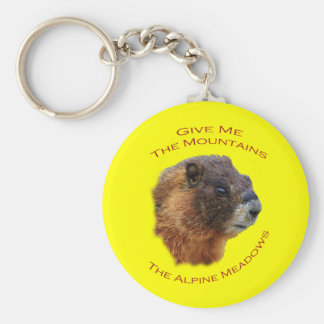 Give Me the Mountains...Marmot Basic Round Button Keychain
