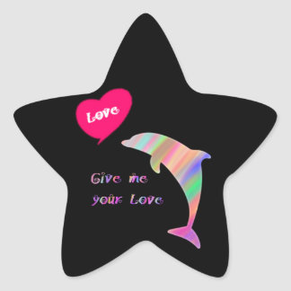Give me your love_dolphin star sticker