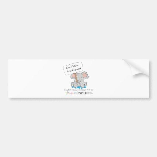 Give More than Peanuts! Bumper Sticker