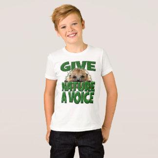 GIVE NATURE A VOICE- Hedgehog Design T-Shirt