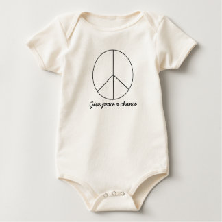 Give Peace a Chance baby bodysuit