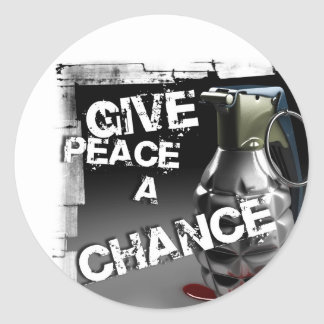 Give peace a chance classic round sticker