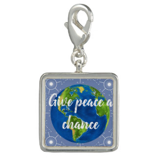 Give Peace a Chance in this World Charm