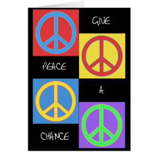 Give Peace a Chance Pop Card