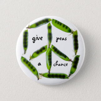 give peas a chance 2 inch round button